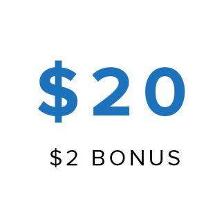 20 store credit
