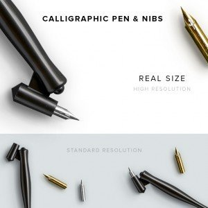item description calligraphy pen and nibs