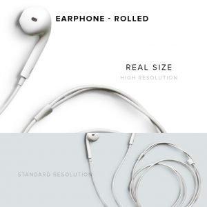 item description earphone rolled