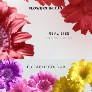 item description flowers in jug