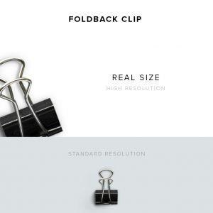 item description foldback clip