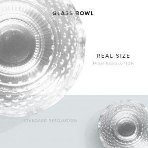 item description glass bowl