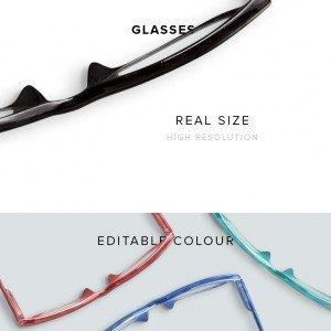 item description glasses opened