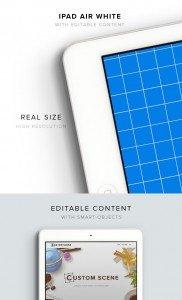 item description ipad air white