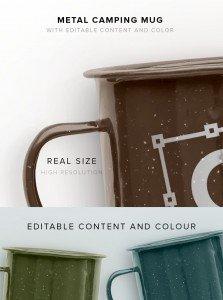 item description metal camping mug