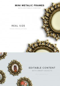 item description mini metalic frames