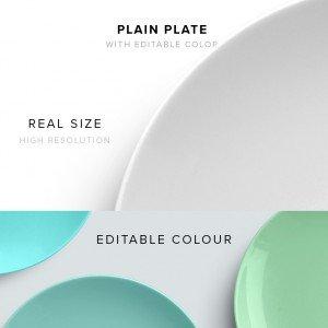 item description plate plain