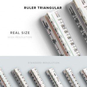 item description ruler triangular