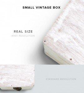 item description vintage box small