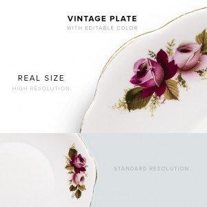item description vintage plate