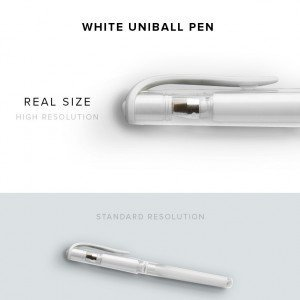 item description white uniball pen