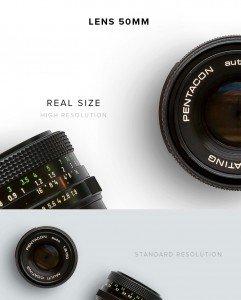 item description lipstick lens 50mm