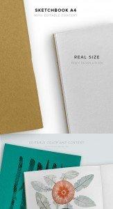 item description sketchbook A4