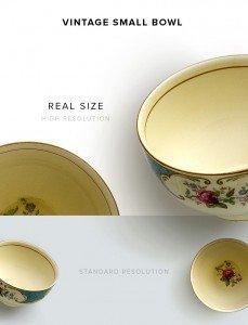 item description vintage small bowl