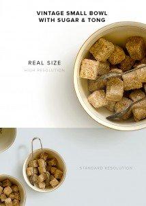 item description vintage small bowl sugar tong
