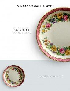 item description vintage small plate