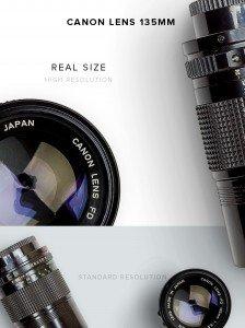 item description canon lens 135mm