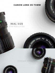 item description canon lens 35 70mm