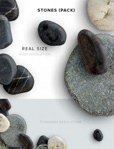 item description stones pack