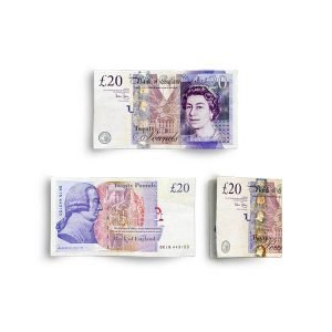 item cover money 20 notes british pounds