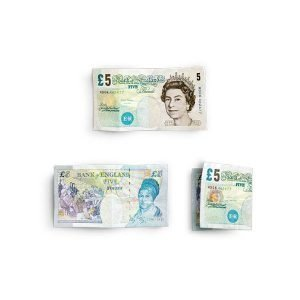 item cover money 5 notes british pounds