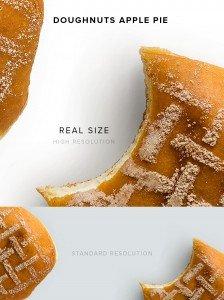 item description doughnuts apple pie
