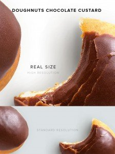 item description doughnuts chocolate custard