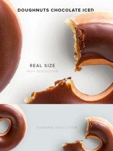 item description doughnuts chocolate iced