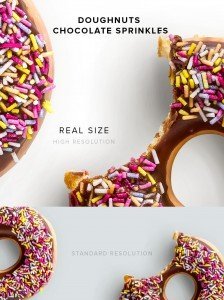 item description doughnuts chocolate sprinkles