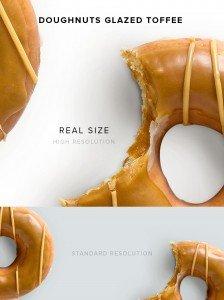 item description doughnuts glazed toffee