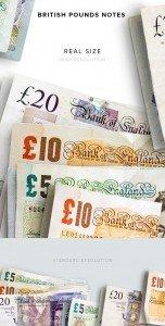 item description money notes british pounds