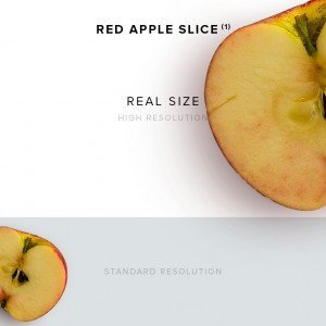 item description red apple slice 1