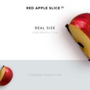 item description red apple slice 2