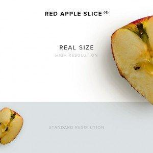 item description red apple slice 4