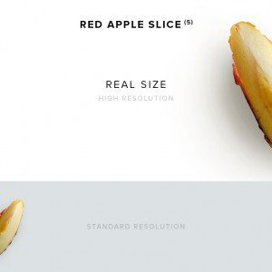 item description red apple slice 5