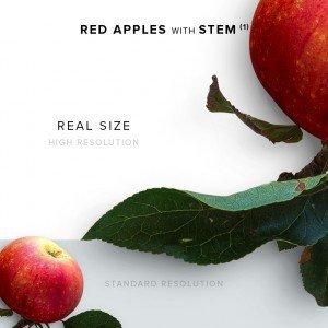 item description red apple with stem 1