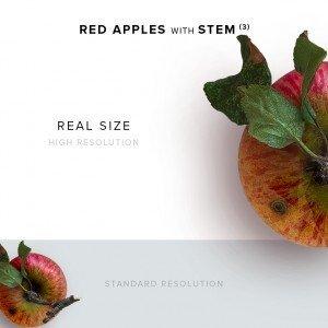 item description red apple with stem 3