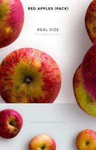 item description red apples pack