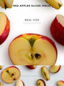 item description red apples slices pack