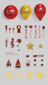 party edition custom scene list item accesories