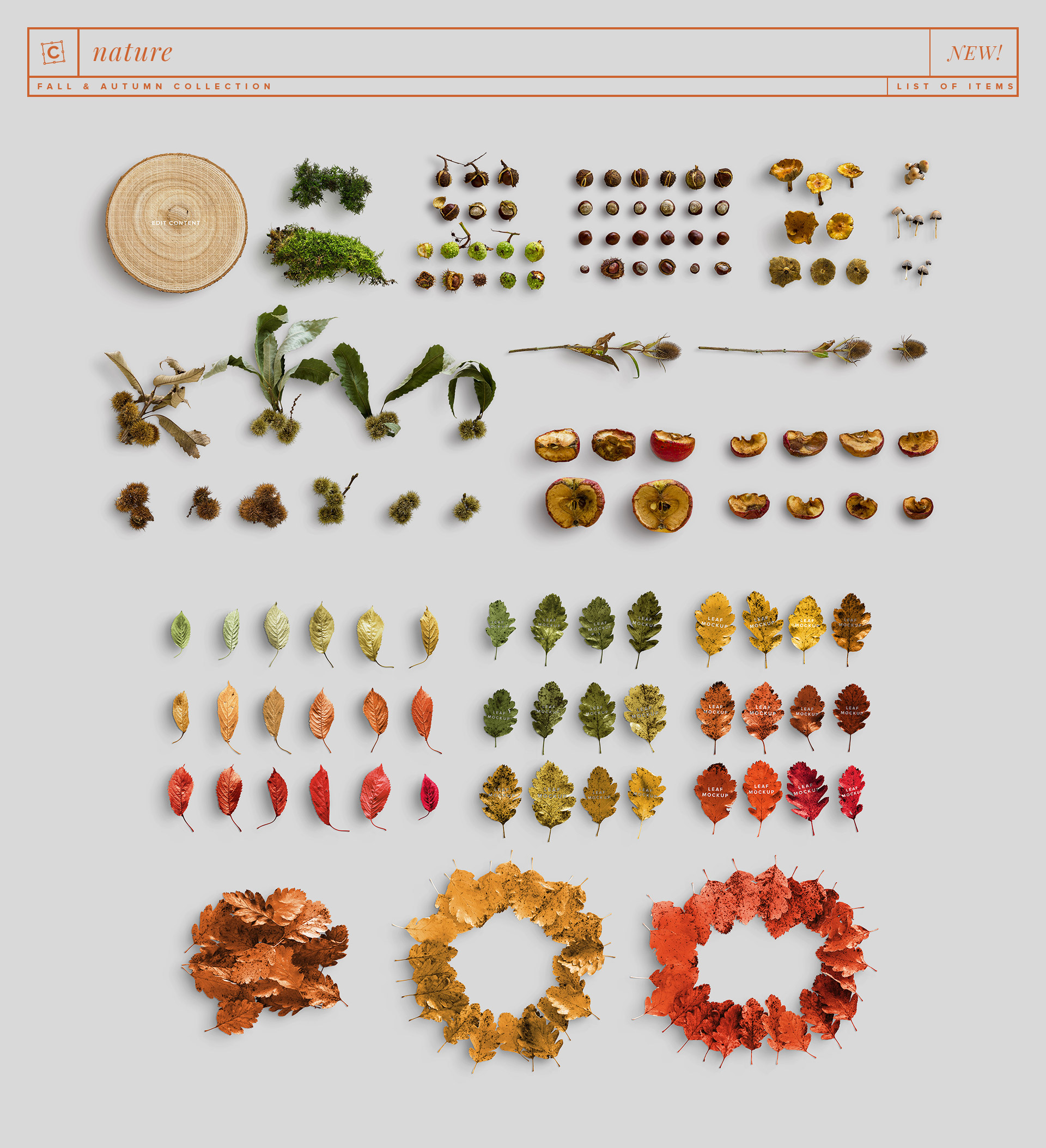 new items nature fall and autumn collection customscene
