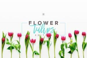 landscape mockup flower tulips scene 005 r