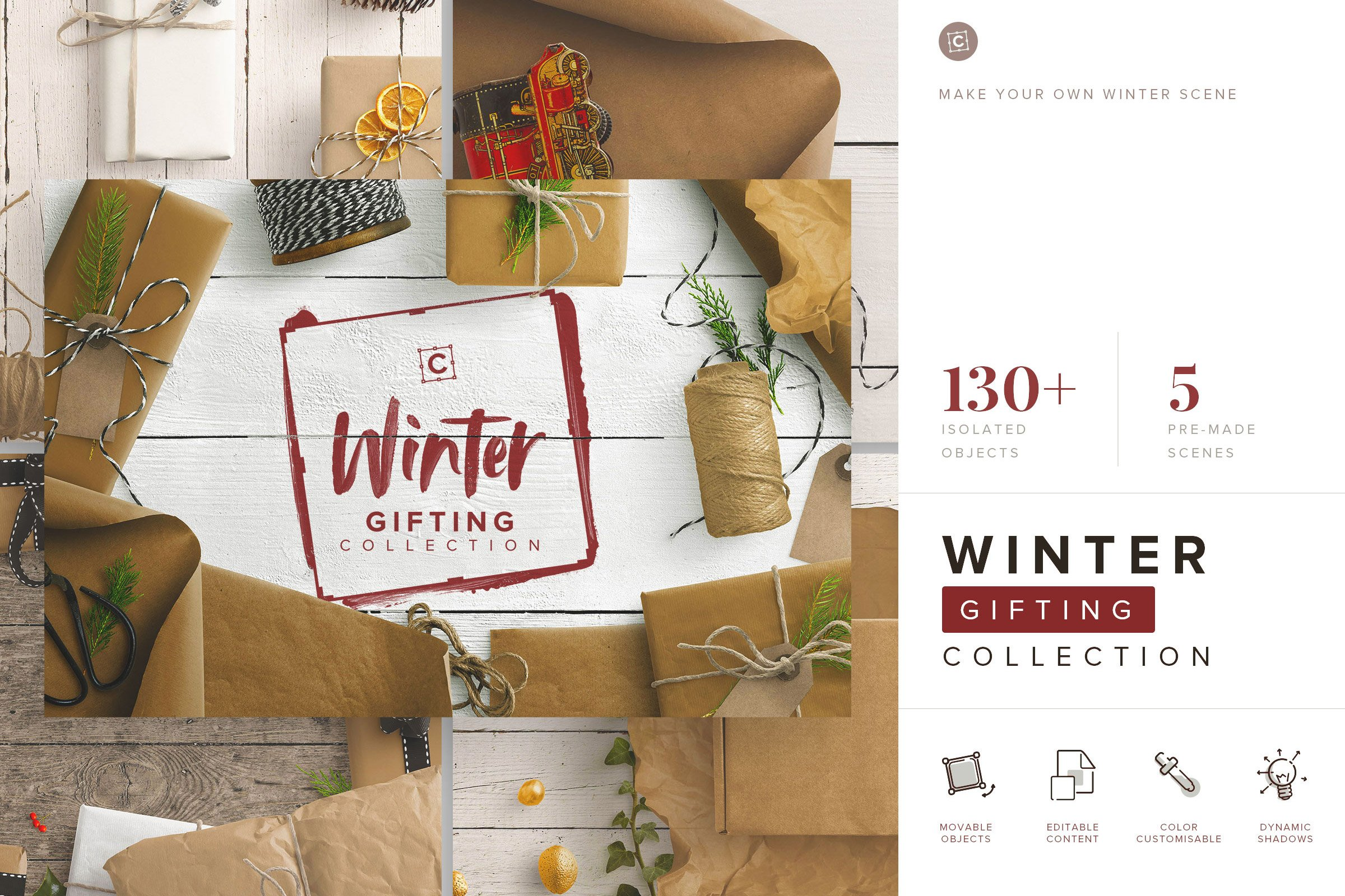 custom scene winter gifting collection cover