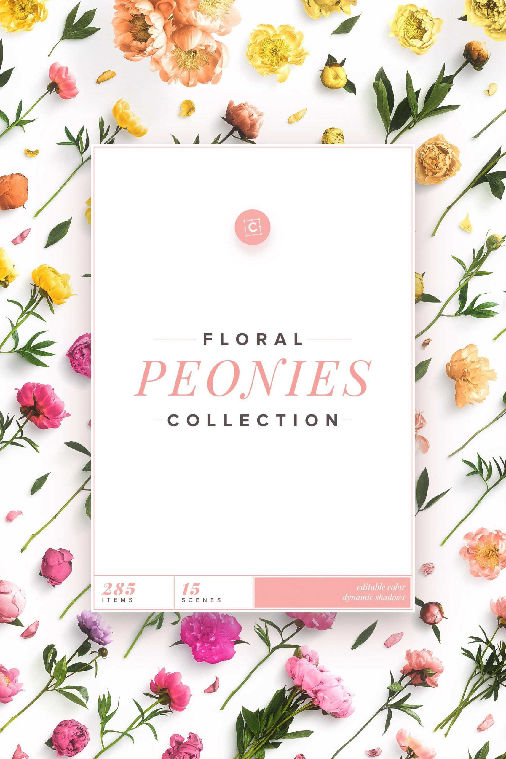 cover 2x3 floral collection peonies customscene