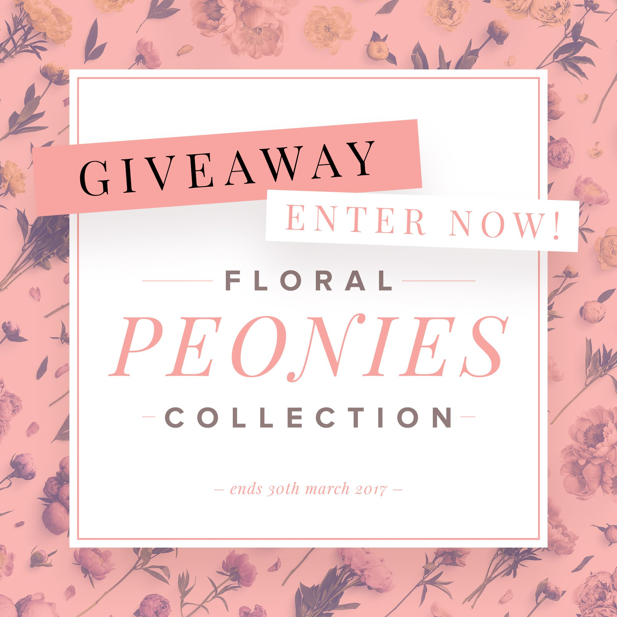 giveaway floral peonies collection customscene