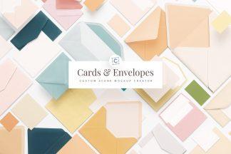 cards and envelopes mockup scene creator cover customscene