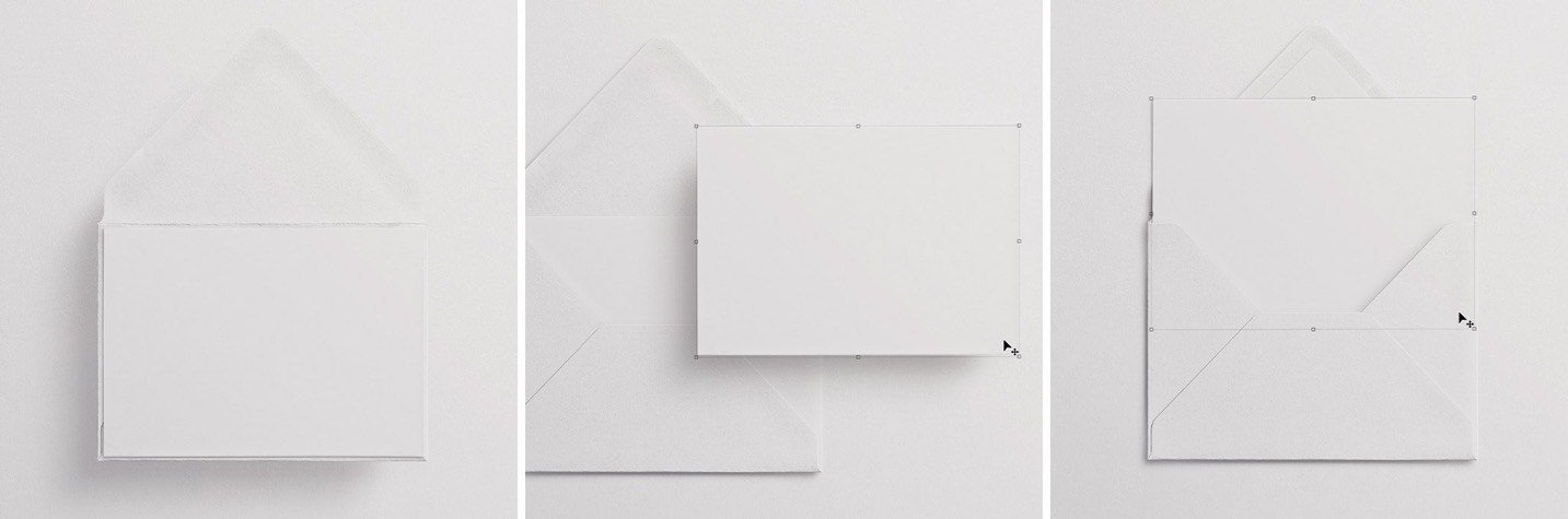 5x7in card front and back w envelope mockup image03