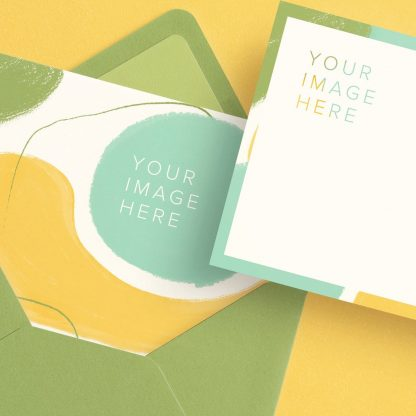 5x7in card front and back w envelope mockup image04