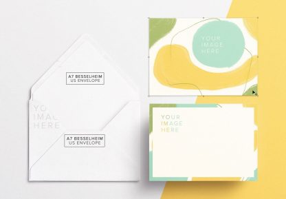 5x7in card front and back w envelope mockup thumbnail