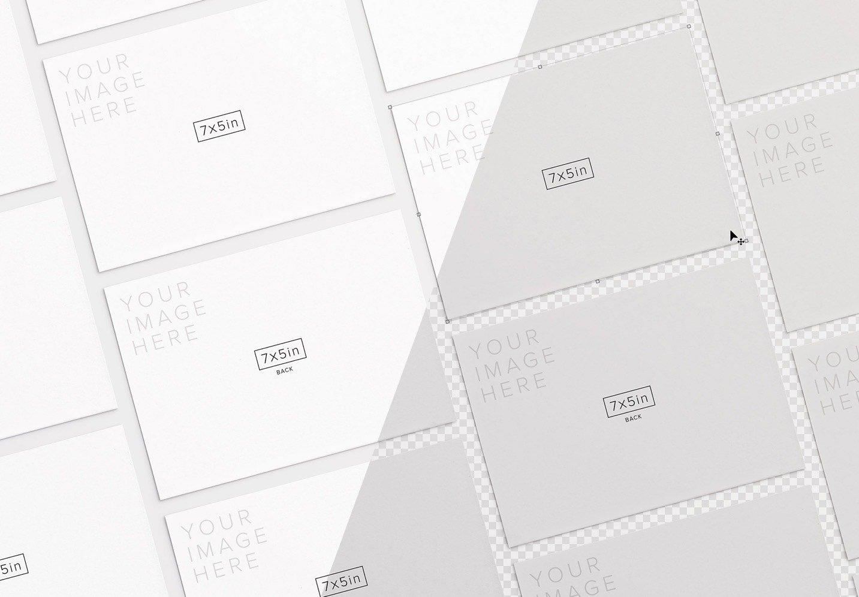 5x7in card mockup diagonal layout image01